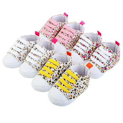 Girls canvas shoes slippers trainers sandals baby kids toddler Prewalker Boots