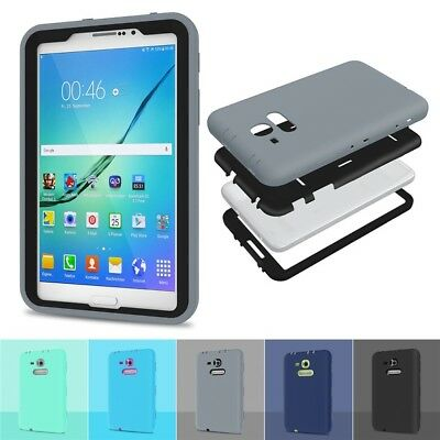 For Samsung Galaxy Tab E Lite 7.0 SM-T113 Tough Rubber Shockproof Case Cover