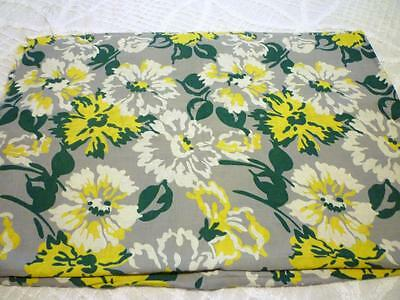 "True Vintage Big 5"" Flowers Floral Cotton Feed Sack Fabric 3 yds x 39"""