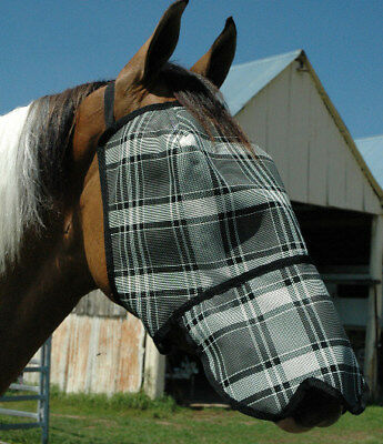 Fly Mask - Economy With Nose Protection. Sizes XS, S, M, L, XL