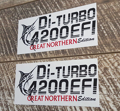 Di Turbo 4200 Efi Great Northern Edition Decal Sticker Landcruiser Stickers