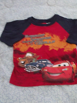 Boys Size 12 Month Long Sleeve Shirt Cars Theme Good Condition