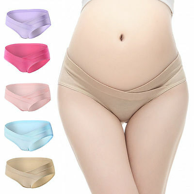Lady Maternity Panties Pregnant Briefs Cotton Underwear Low-waist Knickers Pants