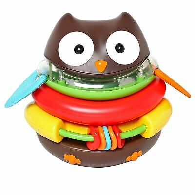 Skip Hop 5 Piece Rocking Owl Stacker Baby Learning Toy With Rattle From 6 Months