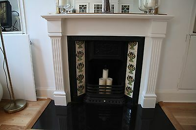 Reproduction cast iron fireplace and surround (Victorian style)