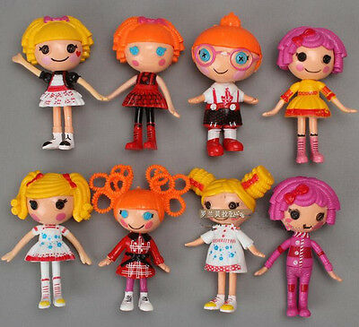 8PCS New Lalaloopsy Mini Doll Action Figure Baby Girl Figures Toy Birthday Gift