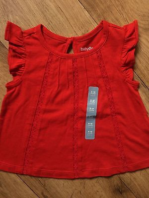 BNWOT Baby Gap Red T Shirt Top 6-12 Months (fits 6-9 And 9-12)