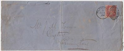 1874 Original South Devon Railway Embossed Envelope With Qv Stamp
