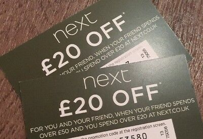 NEXT £20 OFF VOUCHER - INSTANT CODE Ladies Mens Girls Boys Baby Clothing Home