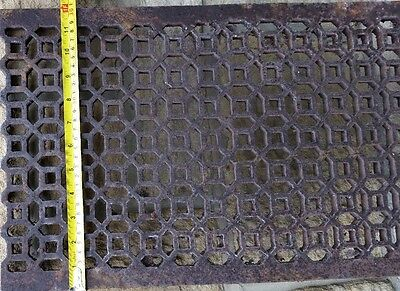 Antique decorative cast iron metal grid