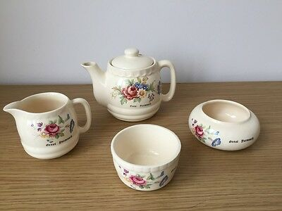Charming Vintage Kilbury Pottery Great Yarmouth  4 Piece Tea Set Good Condition