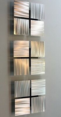 Silver Metal Abstract Modern Decor Wall Art Sculpture - 3 of a Kind by Jon Allen