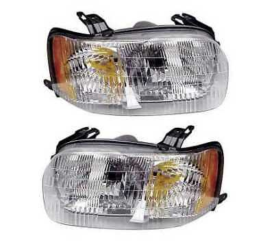 New Pair Of (2) Left and Right Headlight Assemblies fits 2001-2004 Ford Escape