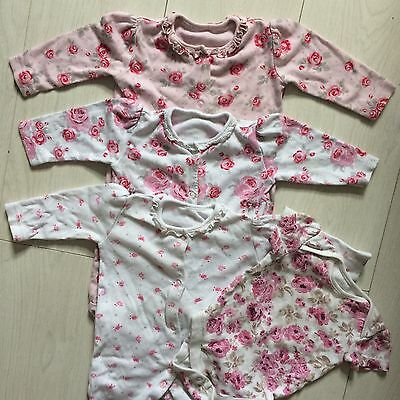 Baby Girl Floral Baby Grow And Vest Bundle 3-6 Months