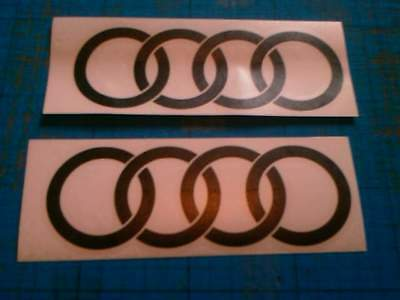 2 Audi 150mm Decals Stickers fits TT R A3 A4 A6 S line all Colours