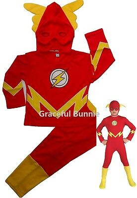 BNWT The Flash Children Costume Dress up Cosplay 3-10yrs