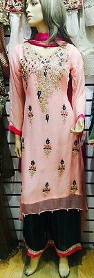 Kora dabka Work Indian Pakistani Shalwar Kameez Anarkali Wedding Partywear