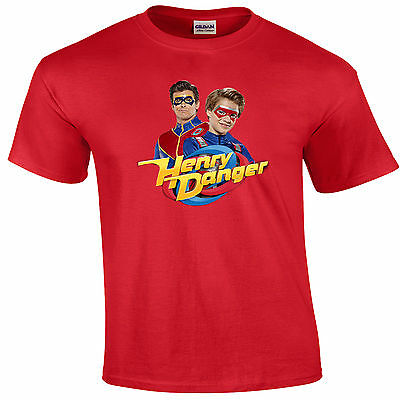 Childs T-Shirt -  Henry Danger And Captain Man - Many Sizes & Colors - New!