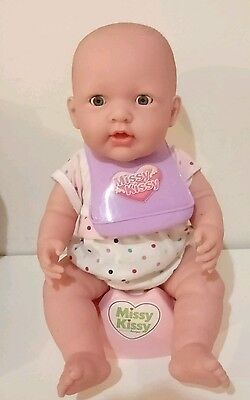 Singing MISSY KISSY Doll Sings Talks Wee Sounds Potty BERENGUER 39cm Baby Doll