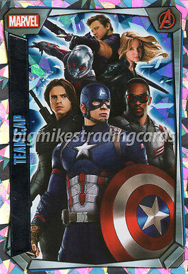 Marvel Missions Hero Attax Team Cap Super Holographic Foil Card - Civil War