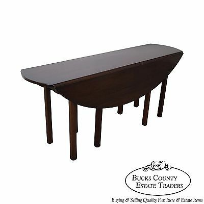 Smith & Watson Solid Mahogany Drop Leaf Dining Hunt Table