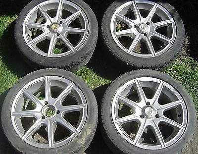 Set of 4 15 inch  Alloy Type Wheels with warn tyres to fit 3 stud Citreon Saxo