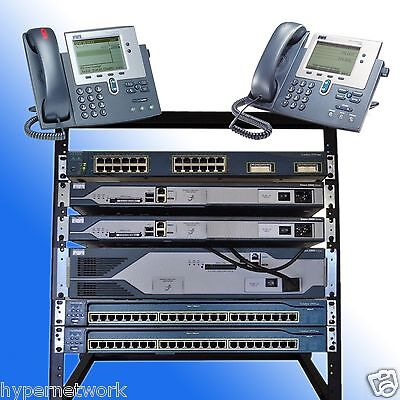 Cisco CCNA CCNP R&S VOICE SECURITY LAB  KIT CME 8.6 IOS 15.1 POE RACK INCLUDED