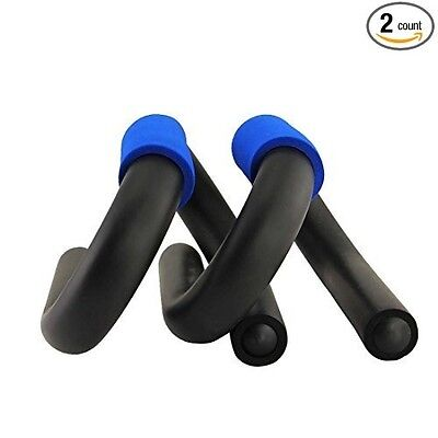 Esport S Shape Blue Push Up Bars, Strong Steel Push-up Bars, Pair of Strong Stee
