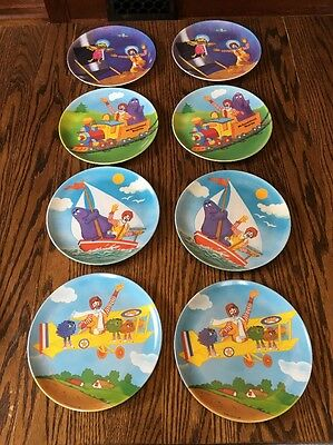 Lot Of 8 9in McDonald's Plates Great Condition