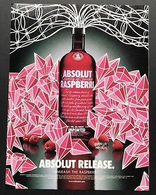 Absolut Release | Vintage Print Ad | 1990s Vodka Alcohol Maya Hayek Art