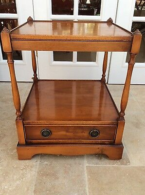 Side table/coffee table yew by Morris of Glasgow