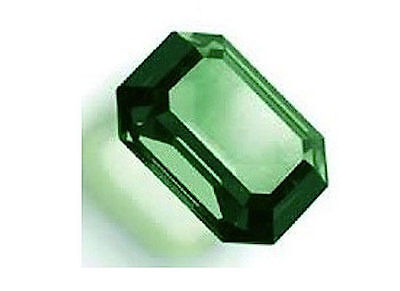 Two Octagon Shaped Emerald Green Gemstones 3 Carats Each-Lab Created-Gorgeous !