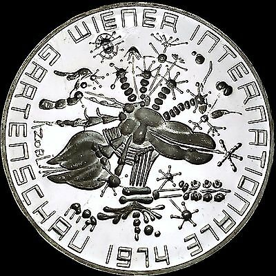 1974 Austria Proof 50 Schilling Silver Coin Vienna International Flower Show