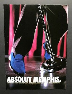 Absolut Memphis | Vintage Print Ad | Music Performer Shoes Style