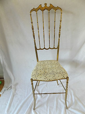 Vintage Authentic Chiavari Chair Brass Italian Hollywood Regency Gorgeous