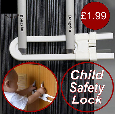 Child Proofing Baby Safety Cabinet Door Cupboard Drawer Handles Lock Children uk
