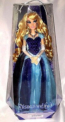 Disneyland SLEEPING BEAUTY/AURORA Doll 60th Anniversary Limited Edition Blue NEW