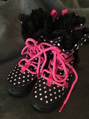 New Girls Nike Polk-a-Dot with Pink Boots, Size 10