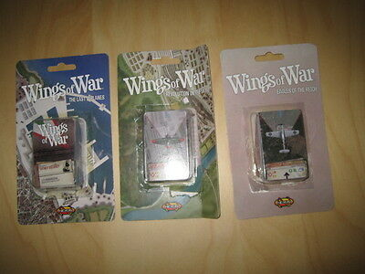 3 x Wings of War Booster Egales of the Reich, Last Biplanes, Revolution in Sky