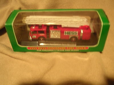 1999 Hess Miniature Fire Truck with Box