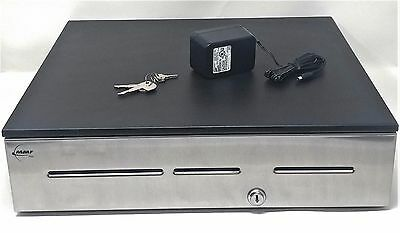 MMF Advantage Electronic Cash Drawer ADV113B1141104 Stainless ~ TOP OF LINE ~