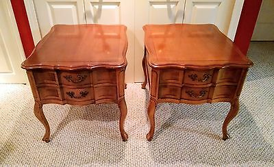 Vintage antique Pair of French Provincial Night stand / End tables
