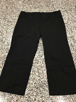Maternity Cropped Capri Black Pants Size M