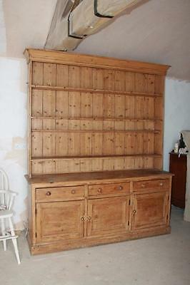 STUNNING ALL ORIGINAL 6FT wide  PINE VICTORIAN DRESSER Courier  in listing