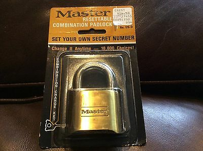 Master Lock 175D Resettable Set-Your-Own Combination Lock, Die-Cast,  New!!!!!!!