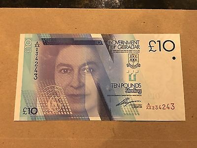 Gibraltar 10 Pounds, 2010, P 36, UNC