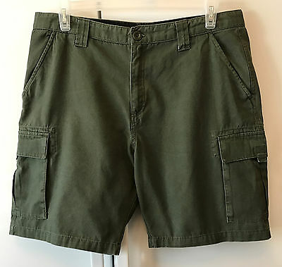 Womens Size 18 Official Boy Scouts of America BSA Green Canvas Cotton Shorts XL