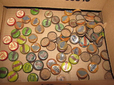 Vintage Soda Bottle Caps Cork Lined Red Cream Coke-Cola, & Crush others over 50