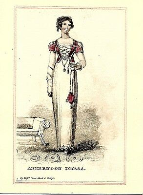 Lady's Monthly Museum   Regency Fashion Plate    MAY 1812     AFTERNOON DRESS