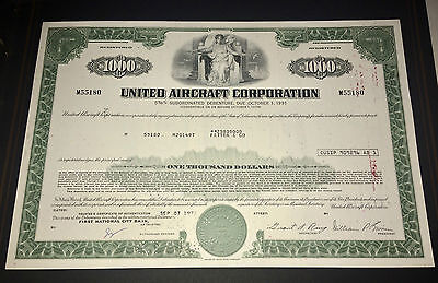UNITED AIRCRAFT CORPORATION 1972  Share Certificate